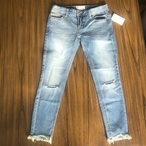 Free People low rise cropped distressed jeans